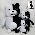 25cm Dangan Ronpa Monokuma Doll Plush Toys Black & White Bear Pink & White Rabbit Top Quality Plush Toys
