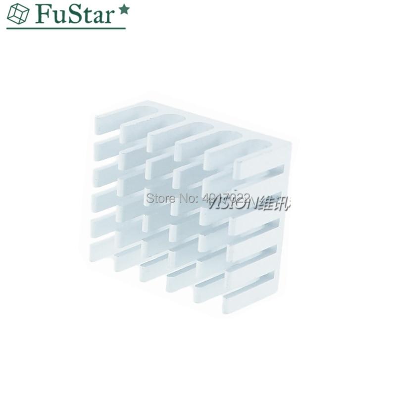 10 Pcs Heatsink Cooling Fin Aluminum Radiator Cooler Heat Sink For IC Chip LED Silver 22*22*10mm Black 22X22X10mm LED Radiator