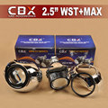 CBX 2 pçs/lote 2.5 polegadas Mini WST HID Bi-xenon Lente Do Projetor RHD/LHD + MAX Máscaras para H4 H7 Auto Farol com Farol Baixo/Alto