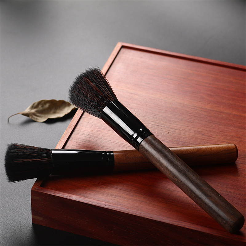 Tea Brush Wood Handle Soft Hair Teapot Brush Professional Clean Brush for Antique Luxury Crafts Kitchen Kettle Spout Clean Tools in Tea Brushes from Home Garden