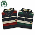 AFS JEEP Fashion Design 2016 Cotton Comfortable Long Sleeve POLO Shirt Men,Striped wide line Loose Cotton Classical Design style