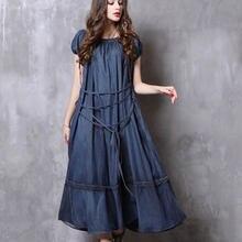 Платье женское винтажное длинное до середины икры с коротким