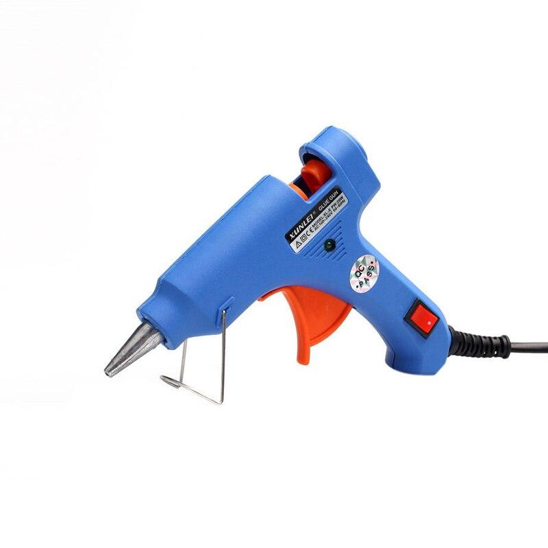 New EU Plug 100-240V 20W Electric S-C Hot Stick Heater Trigger Hot Melt Glue Gun Heat Repair Tools Home DIY Glue Heater