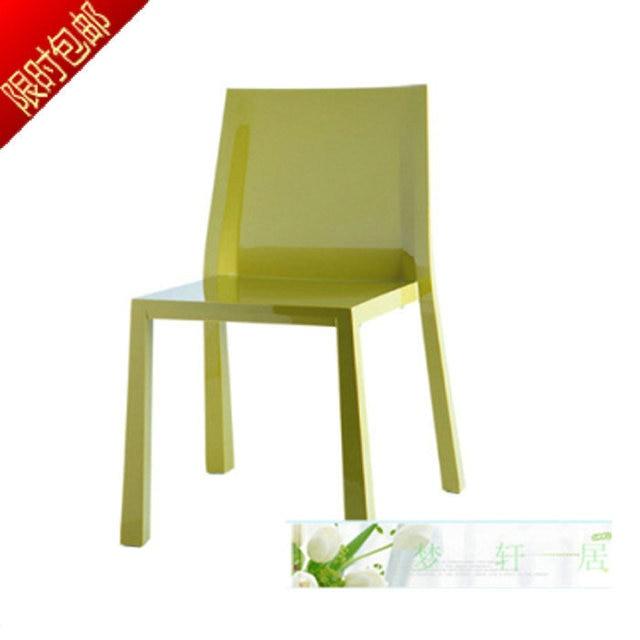 il nuovo elegante acrilico trasparente sedie di plastica parlor cafe ...