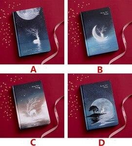 """Image 2 - """"פנאי חג"""" קשה כיסוי יומן יפה מחברת יומן פנקס שחור ניירות משלוח הערה מכתבים מתנה"""
