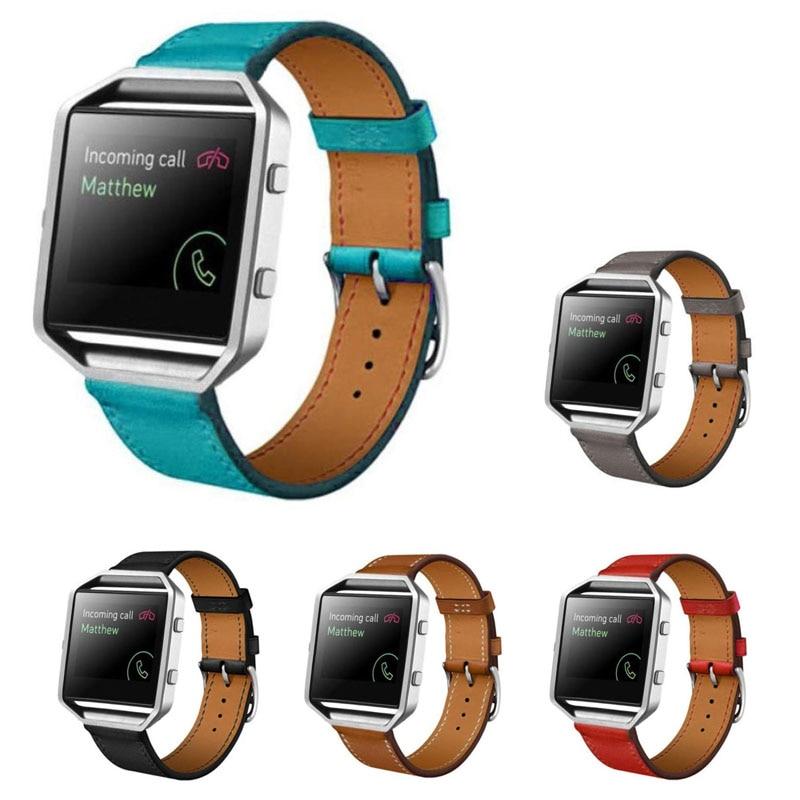 Trendy Watchstrap PU Leather Watch Band Wrist Strap For Fitbit Blaze Smart Watch LXH best price fashion luxury leather watch band wrist strap for fitbit blaze smart watch freeshipping