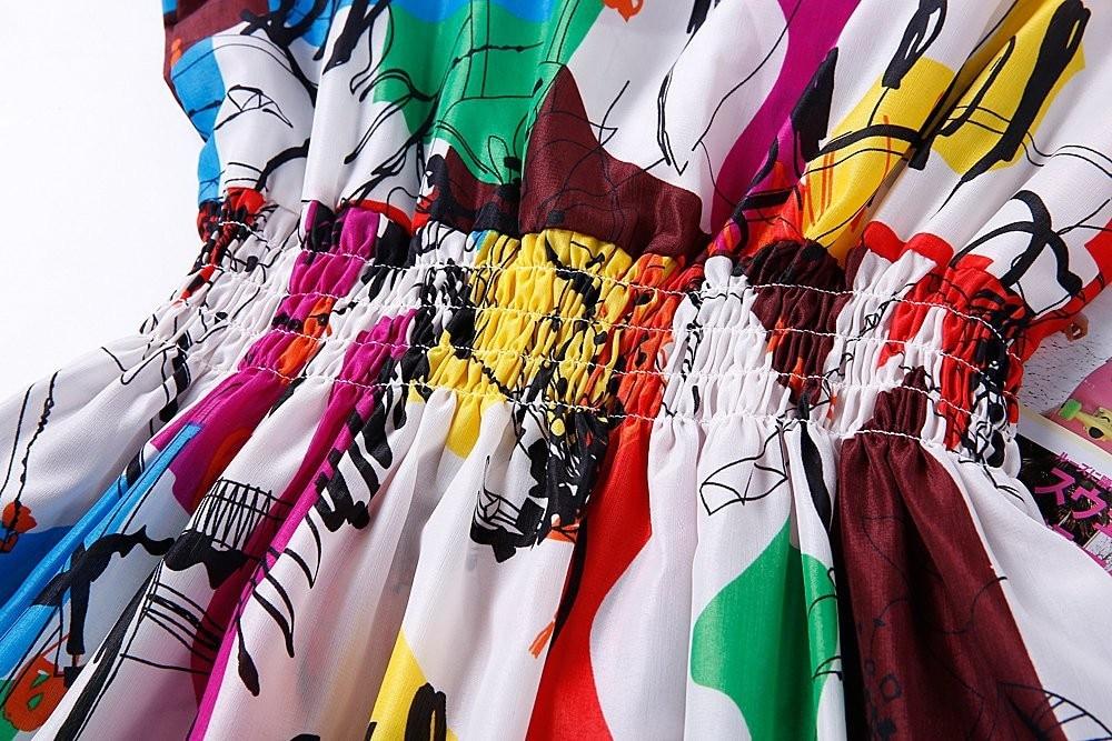 HTB1wtY2HFXXXXafXVXXq6xXFXXXX - Summer Women Dress Vestidos Print Casual Low Price