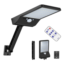 Newest 800LM 48 LED Solar Power Street Light  Outdoor Waterproof Two Angles Rotable Pole  Lamp With Three Modes