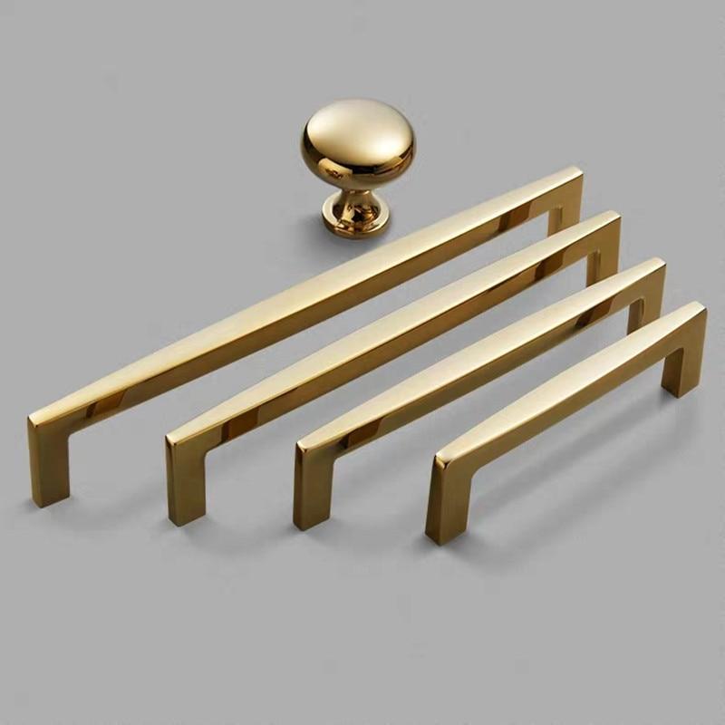 Modern High Quality Gold Zinc Alloy Furniture Door Handle