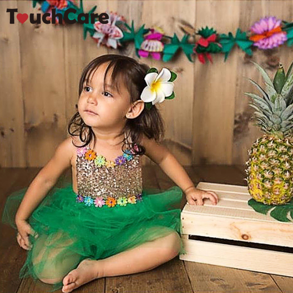 Clearance Touchcare Backless Newborn Baby Girl Dress Spangle Decoration Baby Girl Romper Mesh 1 Year Baby Princess Dress