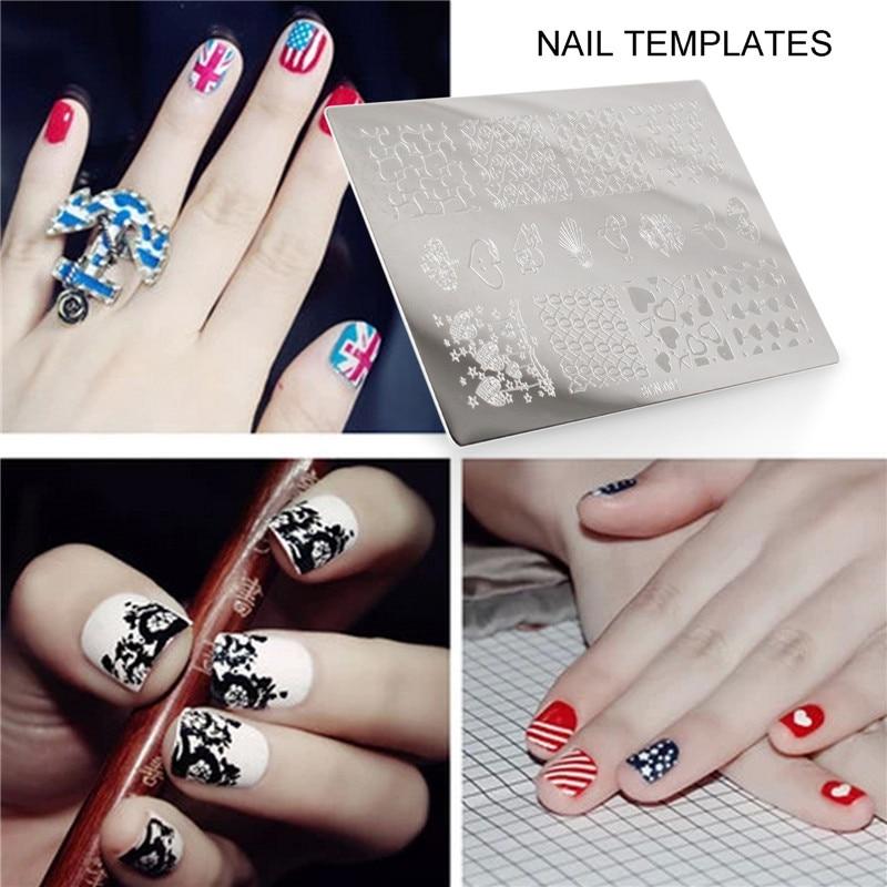 Yaoshun 1PCS DIY Nail Art Stickers Hot Sale Nail Stamping Plates ...