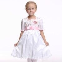 2016 Children Dance Clothing Lovely Bowknot Dress Fashion Princess Short Sleeves Cosplay Fancy Dress Costumes Children EK157