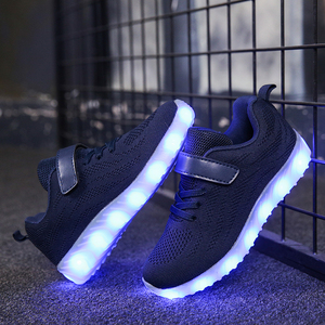 Image 4 - Size 25 37 Children Glowing Sneakers Kid for Boys Girls Shoes with Light up luminous sole canvas shoes luminous led slippers