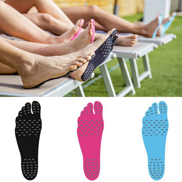 Waterproof and Anti- Slip Feet Pads Sticky Adhesive swimming Feet Pads Stick on Soles for feet on the beach