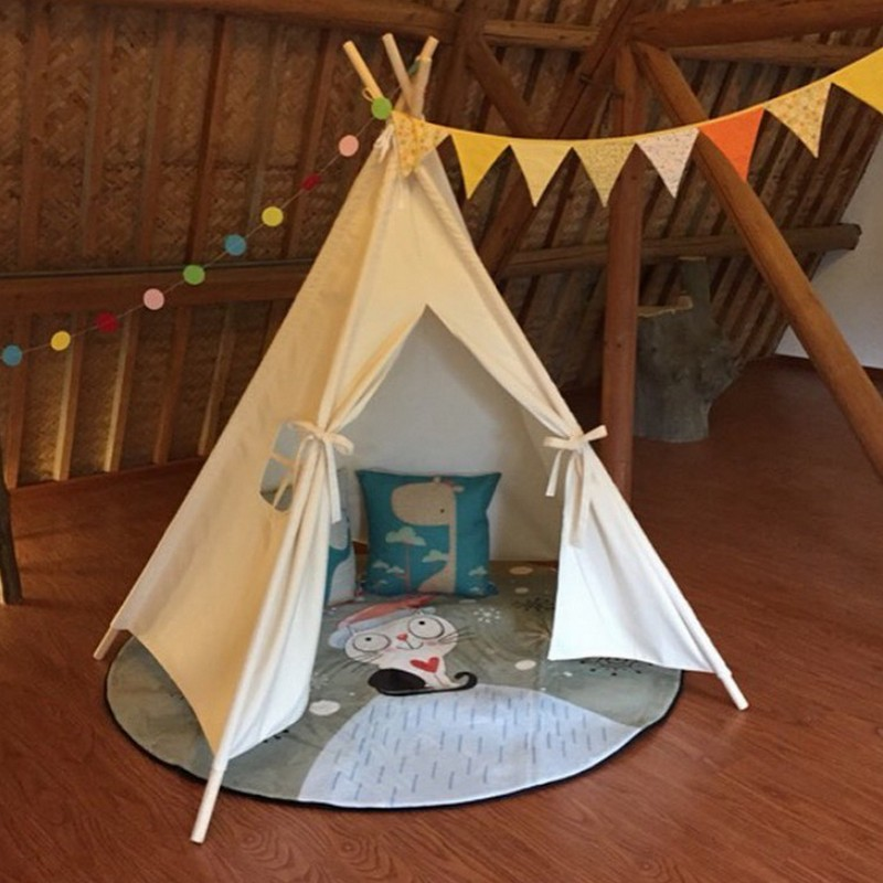 INS New Love Tree Kids Teepee Tent White One Window Children Play house Toy Tents baby game room children play tent toy tent best selling child toy tents tipi kids game house girl princess play tent teepee children house indoor outdoor toy tents