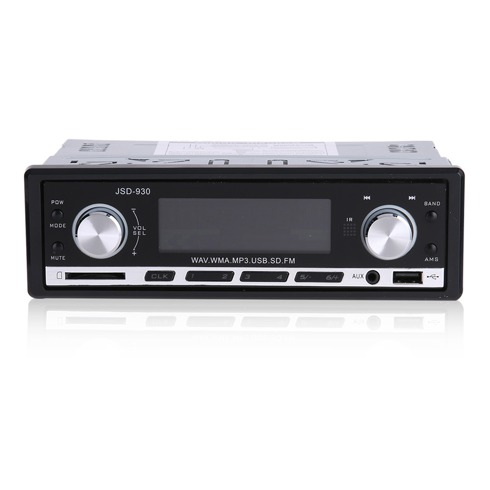 Newest JSD-930 Car Stereo Audio Player FM Aux Input Receiver In-Dash SD USB In Dash Music MP3 Radio Player For Cell Phone