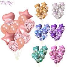 14pcs 12inch 18inch Foil Birthday Balloon Heart Ballon Helium Decor Wedding Matte Metal Metallic Baloon Supply