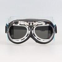 New Pilot Cruiser Motorcycle Scooter ATV  Off-Road Goggle Eyewear Gray Lens