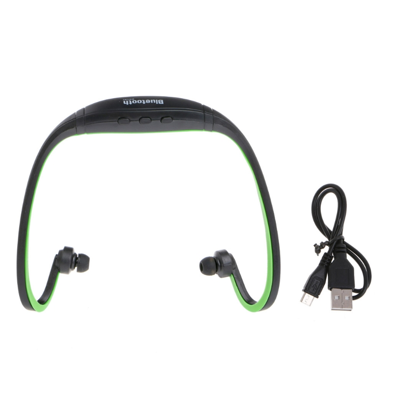 BS19C Bluetooth Headset Sports Music Headphone TF Slot FM Radio Driving Running Mini USB Charging Cable 3.4-4.2V