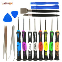 SANHOOII 16in1 Torx Phillips Screwdriver Set Pry Tools Cellphone Mobilephone Repair Tools For iPhone 4s 5s 6 6s Samsung LG Open(China)