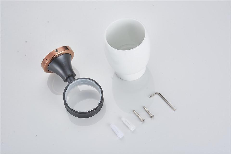 ΞXOXOFree Shipping copper Porcelain Cup & Tumbler Holders Brass Dual ...