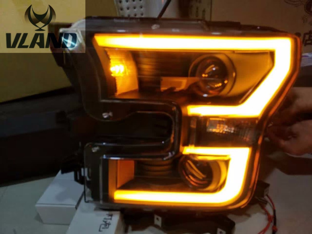 VLAND manufacturer for Car head lamp for RAPTOR LED Headlight 2013 2014 for RAPTOR Head light with <font><b>H7</b></font> Xenon lamp and Day light image