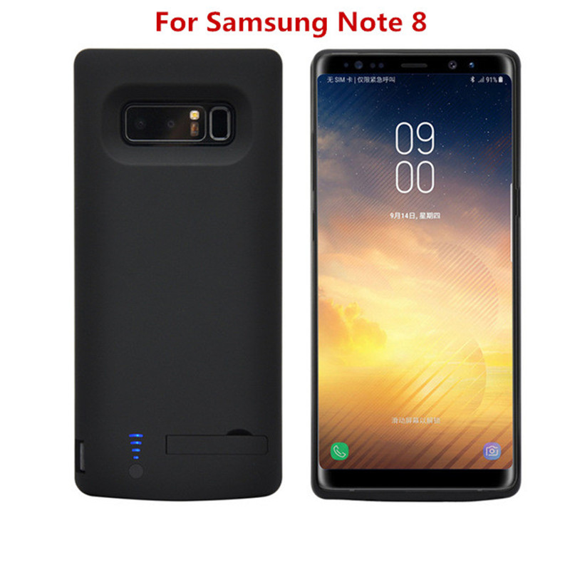ZKFYS 6500mAh Portable Ultrathin Charging Power Bank For Samsung Note 8 Fast Phone Charger Battery Case