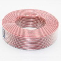 DHL FEDEX Shipping 1 Roll 100m LoudSpeaker Audio Cable OFC Pure Copper Tinned Copper 200wires Core