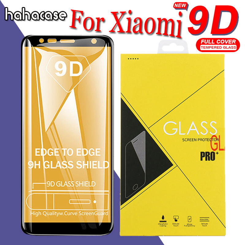 50pcs 9D Curved Edge Full Coverage Tempered Glass For Xiaomi Mi8 SE Lite Mi6 A2 A1 5S Mix 2 F1 Screen Protector With Yellow Box