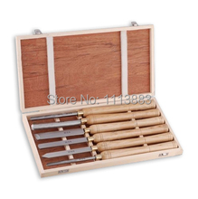 6PCS 470mm Wooden Turning Tools SET H.S.S Blade & Domestic Ashtree Handle in Box