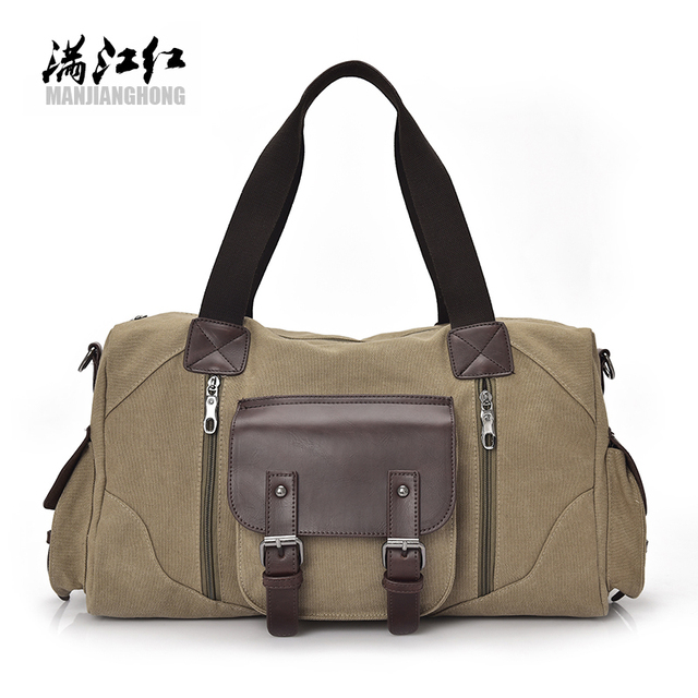 2017NewTravel Bag Large Capacity Men Hand Luggage Travel Duffle Bags Canvas Weekend Bags Multifunctional Travel Bags43x16x25cm