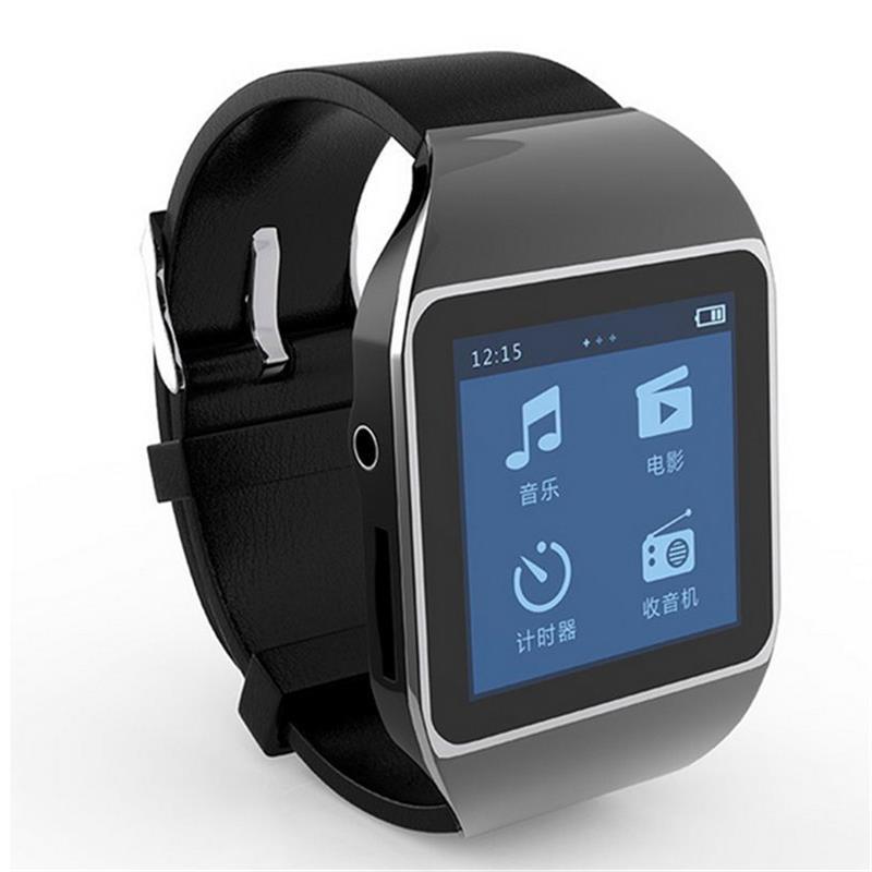 Nouveau Mode Écran Tactile Portable Lecteur MP3 8 GB Bluetooth Sports De Course MP3 Lecteur Audio Prend En Charge FM Radio, Enregistrement de la voix