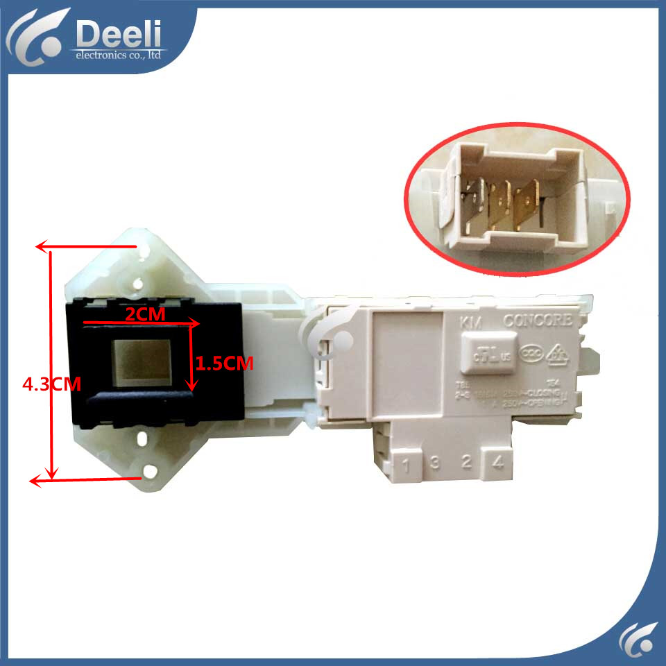 new for Washing Machine Blade Electronic door lock delay switch XQG60-642DS XQG60-601S AS XQG70-642DS original 95% new used for glanz washing machine blade electronic door lock delay switch
