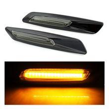 2pcs LED Side Marker Light Turn Signal Light Amber Yellow Fender font b Lamp b font