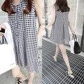Плед жилет хлопок беременных платья одежда для беременных одежда лактации беременности носить Gravida рукавов лето