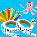 HAPPYXUAN Self-adhesive Paper Eye Stickers Roll Black Color Children Handmade DIY Craft Materials