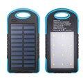 Nueva Portátil USB Dual 6000 mAh Banco de la Energía Solar Del Teléfono Móvil Batería Externa Powerbank