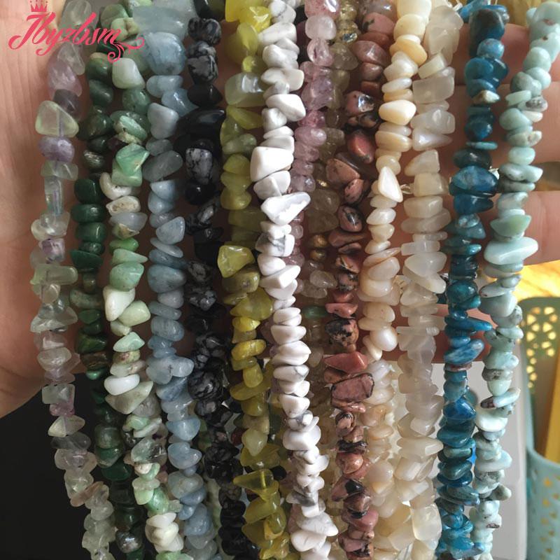 4-7mm Freeform Chip Natural Stone Beads Irregular Shape For DIY Necklace Bracelet Fashion Jewelry Making Making 16″Free Shipping