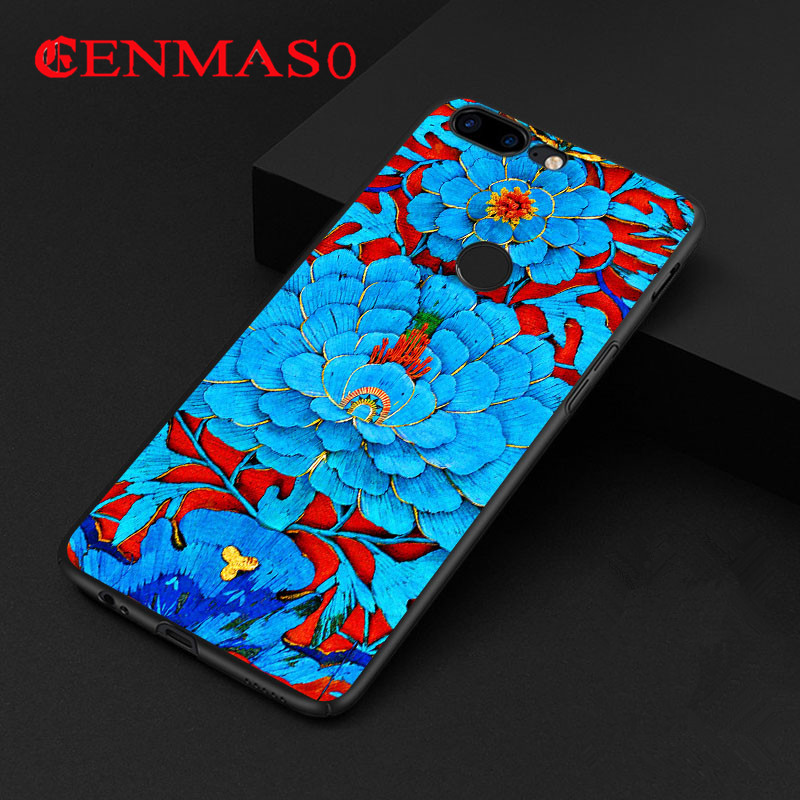 Oneplus 5t case for oneplus 5T cover 3D relief painted hard PC back case for one plus 5T 5 T colorful funda phone shell