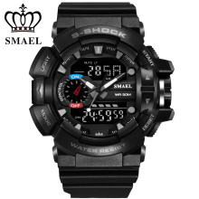 New SMAEL Outdoor Sport Watches LED Digital LED Electronic Watch 3ATM Wristwatches Men mens watches top brand luxury WS1436