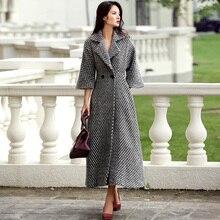 Verragee Новинка 2017 Осень Для женщин длинное пальто моды женского пальто зимнее