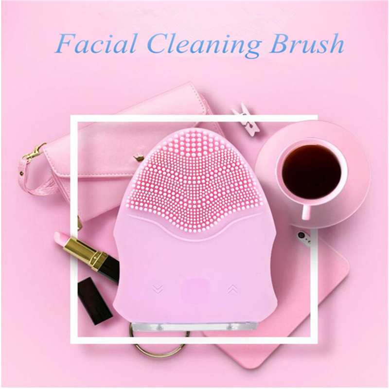 Hot 2017 New Electric  Wash Face Cleanser Vibrate Pore Clean Silicone Facial Cleansing Brush Massager Vibration Cleaner Tools sonic cleansing brush cleanser wash your face wash your face massage instrument deep pores clean cleanser electric wash brush
