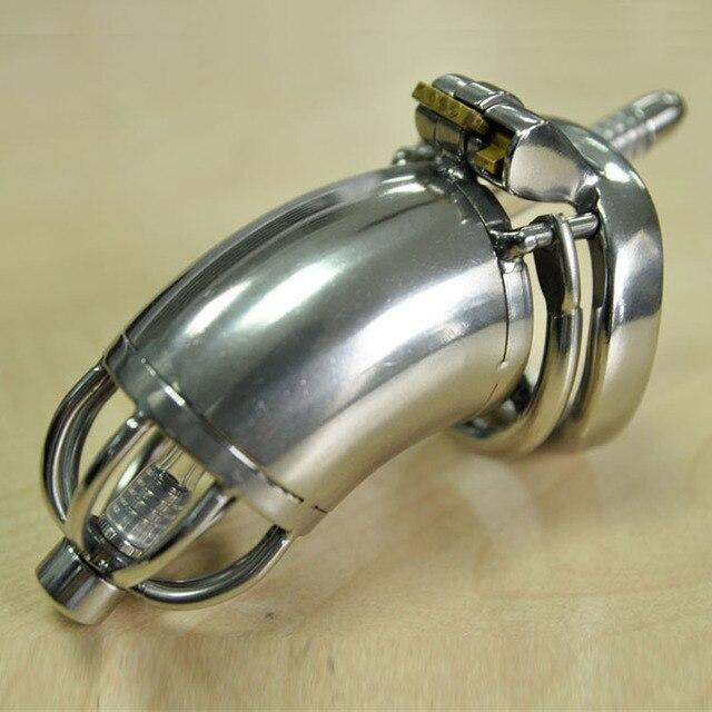 CB6000 мужской целомудрие устройства из нержавеющей стали cock cage целомудрие уретральный катетер тос устройств секс игрушки для мужчин металлические пенис клетки