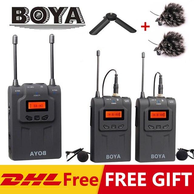 BOYA WM4 Pro II BY WM6 BY WM5 BY WM8 UHF Wireless Microphone System Omni directional