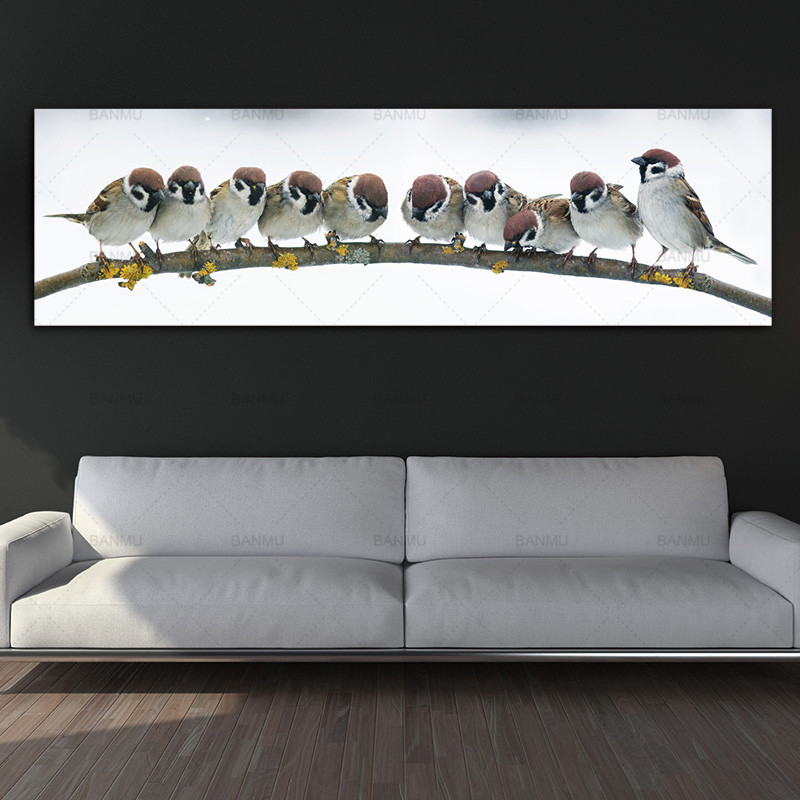 canvas painting art print birds wall picture canvas and posters picture wall art Painting decoration for living room no frame