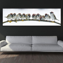 canvas painting art print birds wall picture and posters Painting decoration for living room no frame
