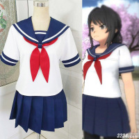 Yandere Simulator Ayano Aishi Yandere chan Cosplay school uniform customized any size