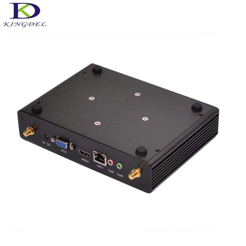 Nettop Computer Celeron N2830 N2810 N2920 J1900 Intel HD Graphics Fanless Mini PC HDMI+VGA 4*USB3.0 Palm Desktop PC 8G RAM 128G
