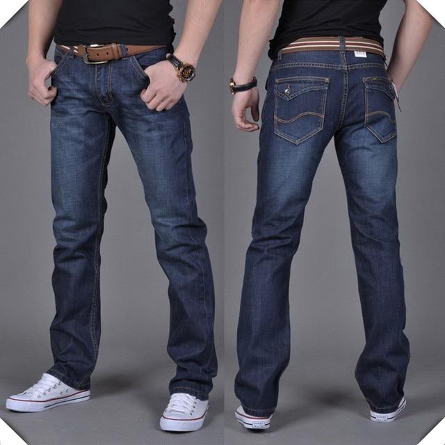 40390c30e Vaqueros baratos para hombre pantalones gruesos de invierno hombres  pantalones rectos de la pierna famosa marca