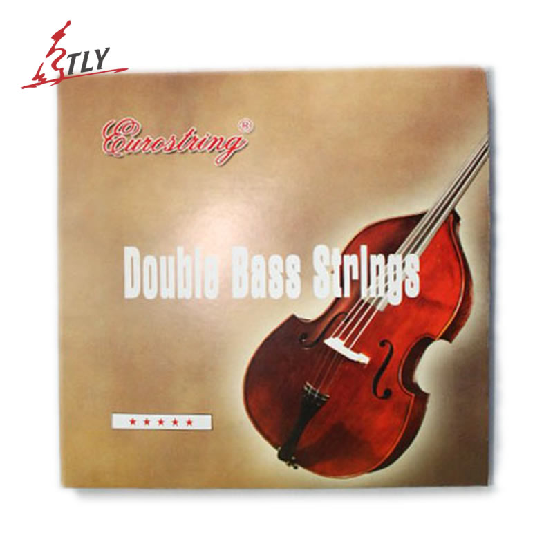 EURO 4Pcs/set Beginner Double Bass Strings Universal Students Bass Steel Strings rotosound rs88ld black nylon flatwound bass strings